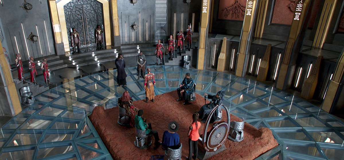 """Wakanda Throne room from the film """"Black Panther"""""""