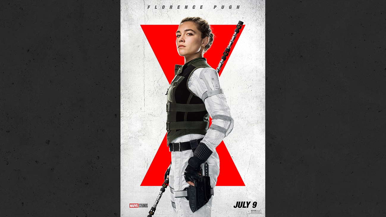 Marvel Studios Black Widow - Florence Pugh as Yelena from the Marvel Studios movie Black Widow. | July 9 | PG-13