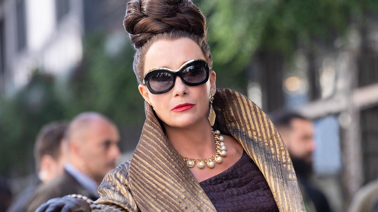 Emma Thompson as Baroness von Hellman from the Disney movie Cruella.