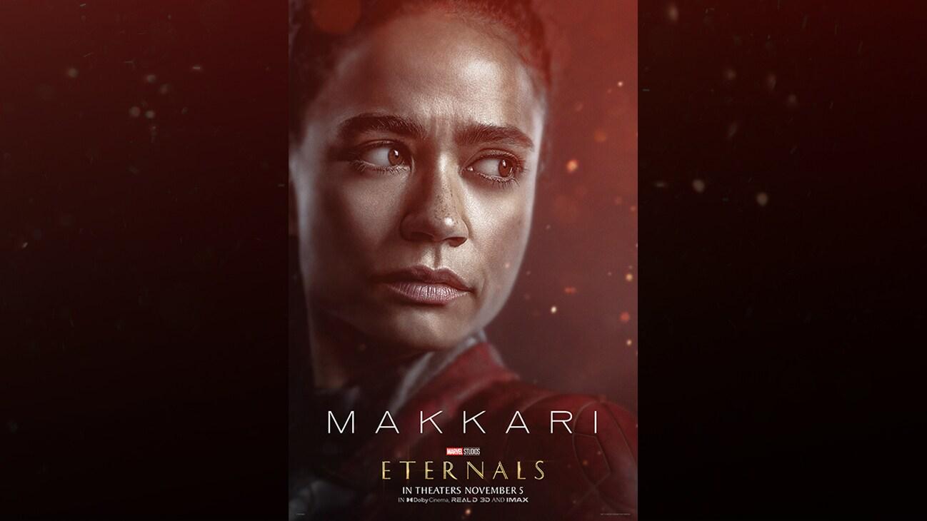 Lauren Ridloff (actor Lauren Ridloff) | Marvel Studios | Eternals | In theaters November 5 | In Dolby Cinema, REAL D 3D and IMAX | movie poster