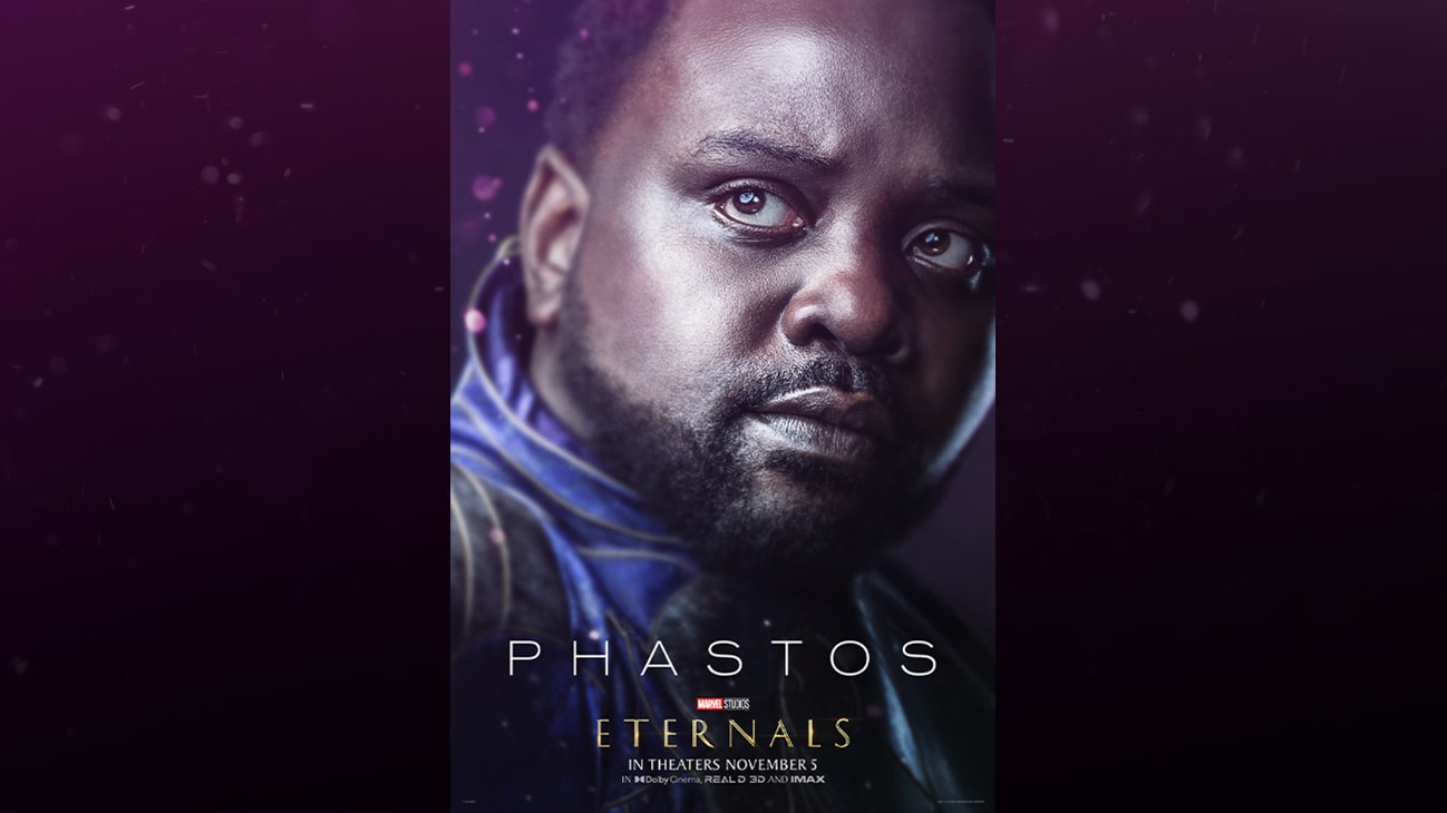Phastos (actor Brian Tyree Henry) | Marvel Studios | Eternals | In theaters November 5 | In Dolby Cinema, REAL D 3D and IMAX | movie poster