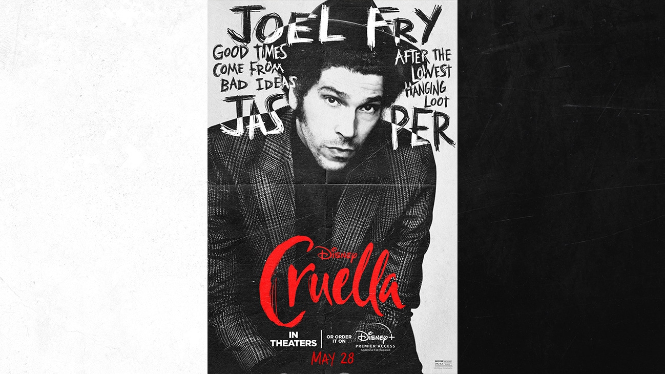 Joel Fry as Jasper | Good Times Come From Bad Ideas | After The Lowest Hanging Loot | Cruella | In Theaters or order it on Disney+ with Premier Access May 28. Additional fee required.