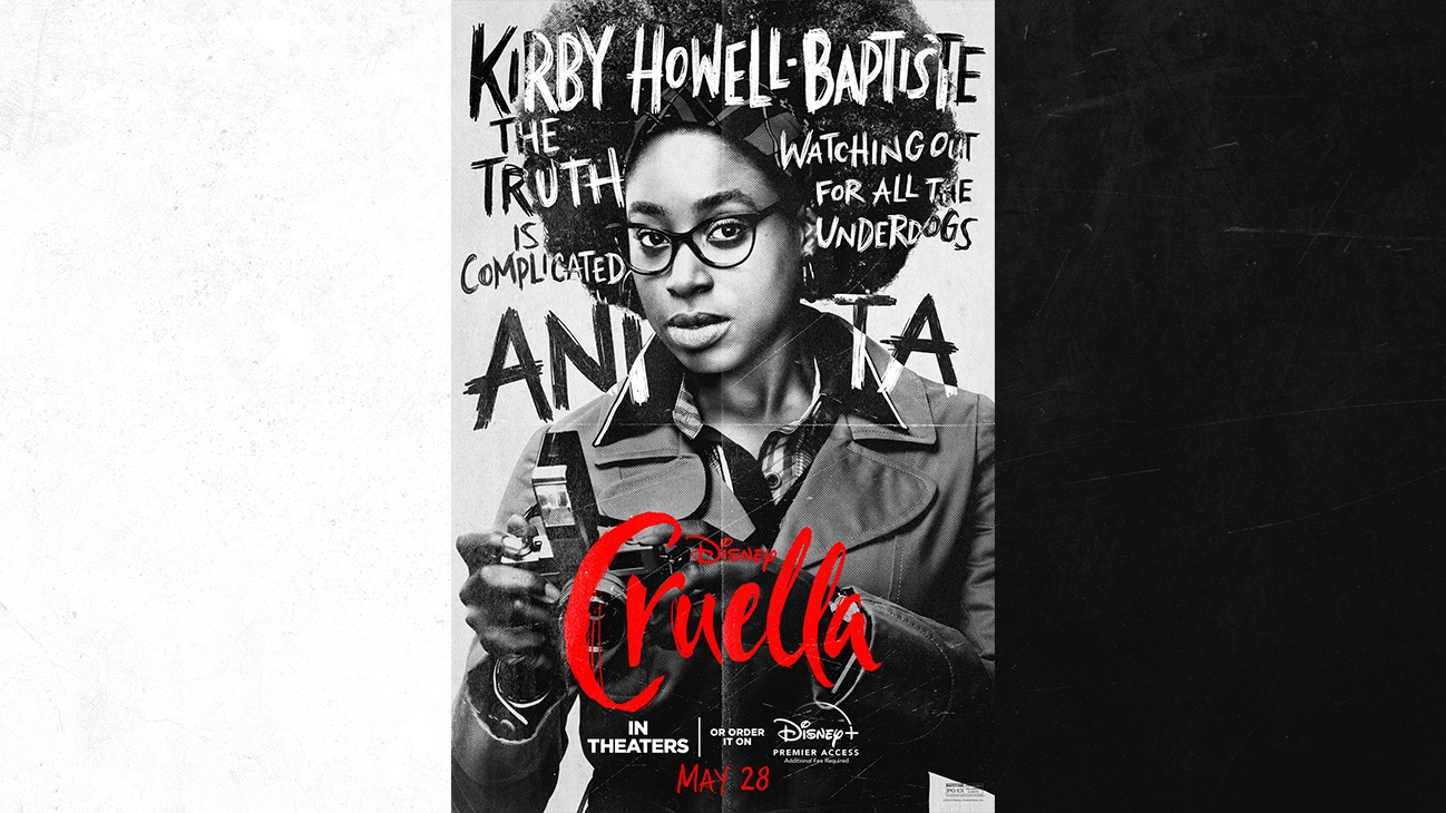 Kirby Howell-Baptiste as Anita | The Truth is Complicated | Watching Out For All the Underdogs | Cruella | In Theaters or order it on Disney+ with Premier Access May 28. Additional fee required.