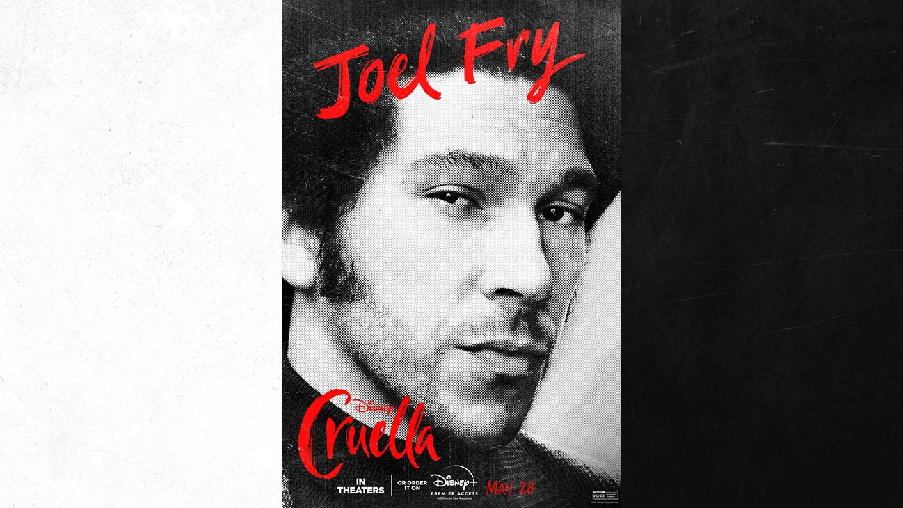 Joel Fry as Jasper from the Disney movie Cruella | In Theaters or order it on Disney+ with Premier Access May 28. Additional fee required.