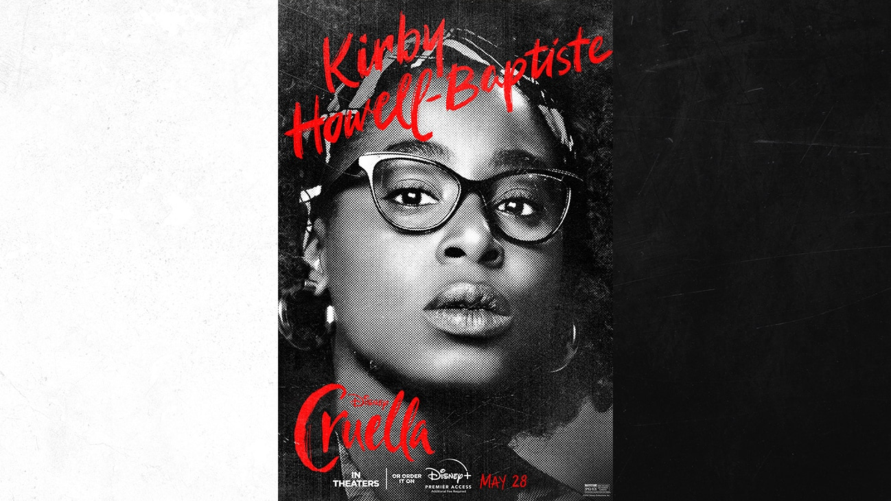 Kirby Howell-Baptiste as Anita from the Disney movie Cruella | In Theaters or order it on Disney+ with Premier Access May 28. Additional fee required.