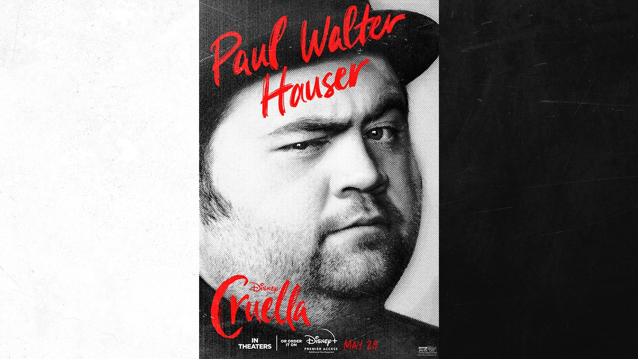 Paul Walter Hauser as Horace from the Disney movie Cruella | In Theaters or order it on Disney+ with Premier Access May 28. Additional fee required.
