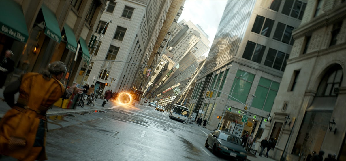 """View of New York City being warped in the Marvel Studios movie """"Doctor Strange"""""""