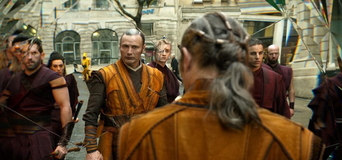 "Actor Mads Mikkelsen (as Kaecilius) in the Marvel Studios movie ""Doctor Strange"""