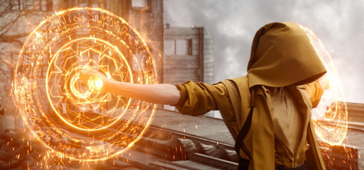 "Actor Tilda Swinton (as The Ancient One) in the Marvel Studios movie ""Doctor Strange"""
