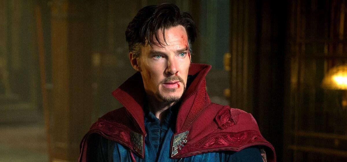 "Actor Benedict Cumberbatch (as Doctor Strange) in the Marvel Studios movie ""Doctor Strange"""