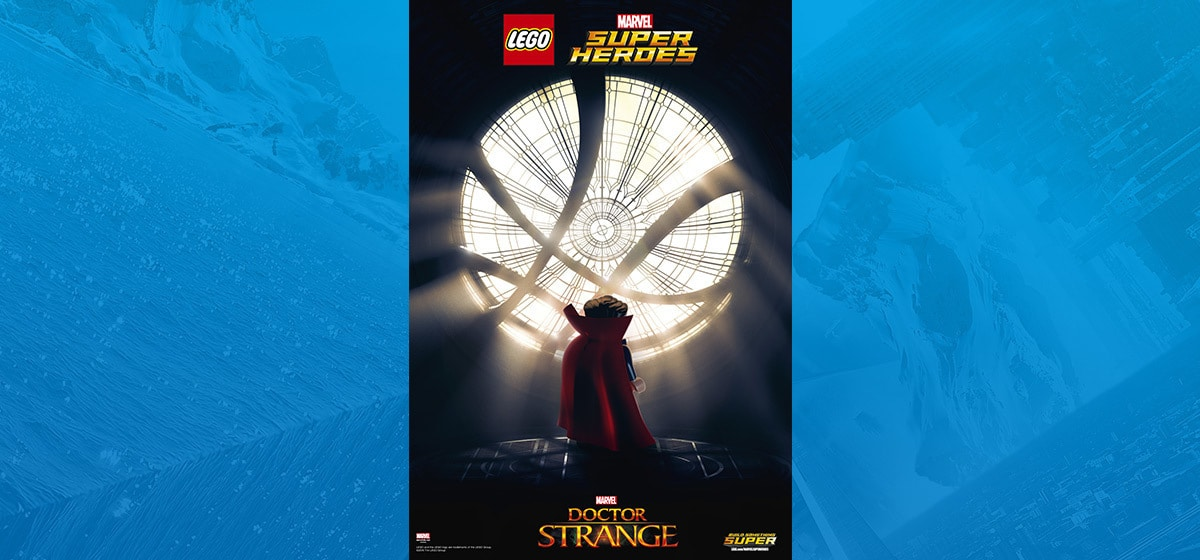 """LEGO Doctor Strange character in the game """"Marvel: Super Heroes"""""""