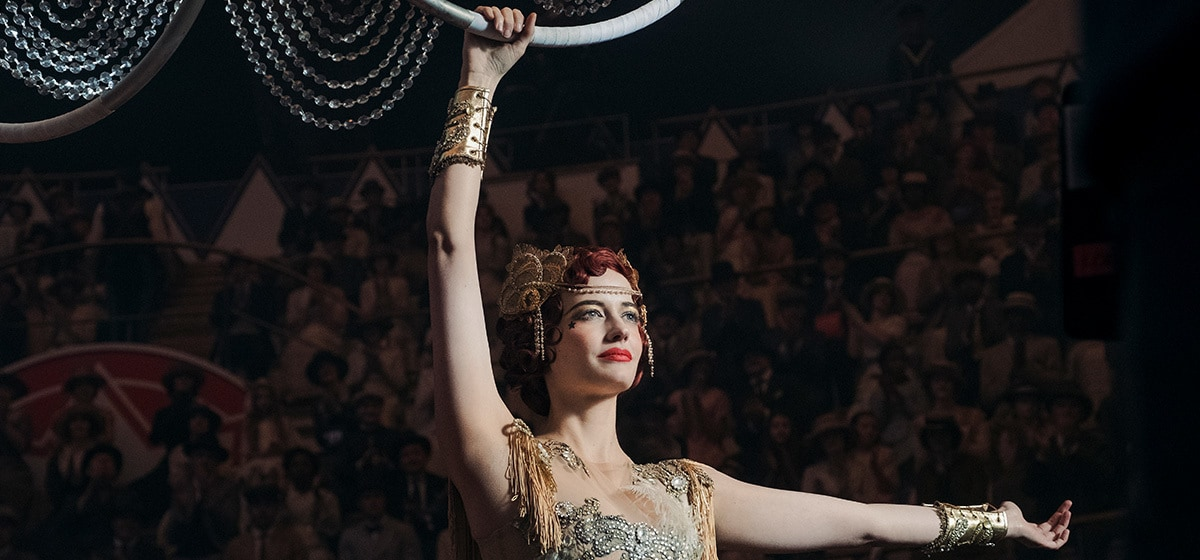 Eva Green (Colette Marchant) performs for the crowd in Dumbo