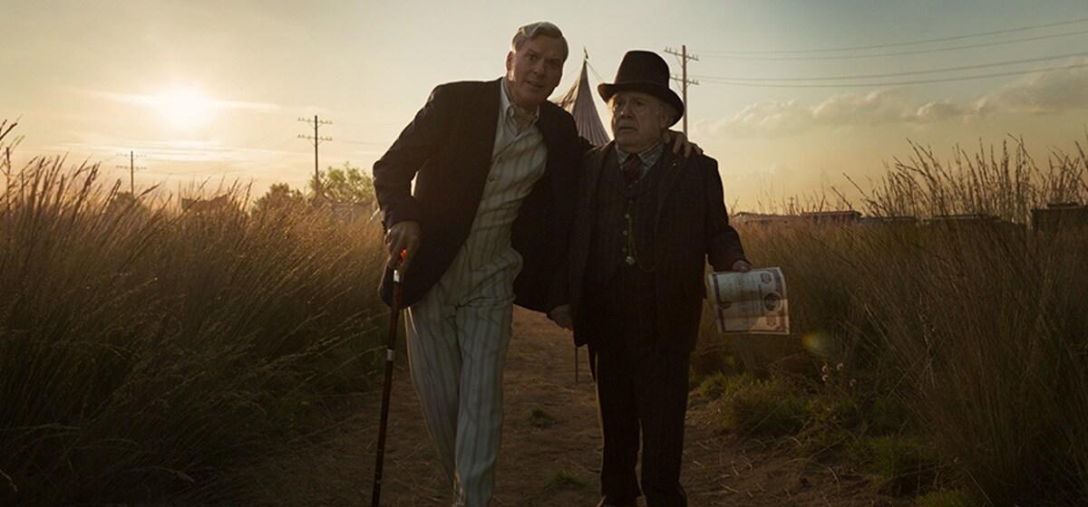 Michael Keaton and Danny DeVito in Dumbo
