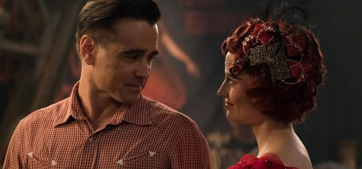 """Colin Farrell (Hold Farrier) and Eva Green (Colette Marchant) from the movie """"Dumbo"""""""