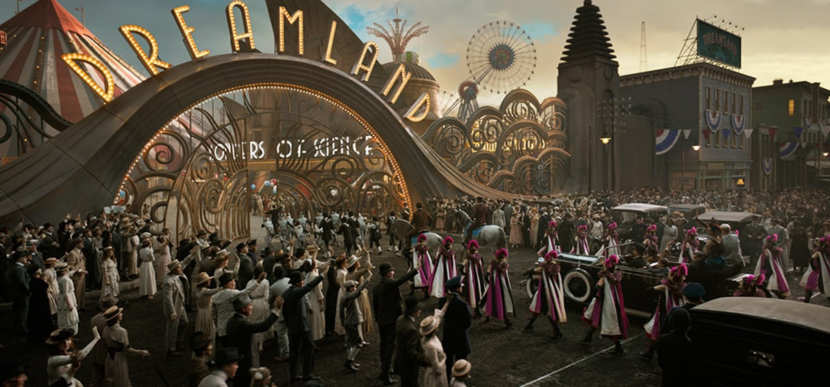 """View of the entry way of Dreamland from the movie """"Dumbo"""""""