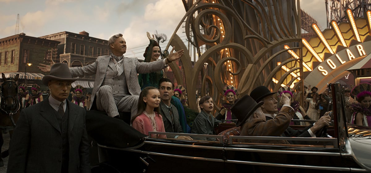 """Characters from the movie """"Dumbo"""" entering Dreamland."""