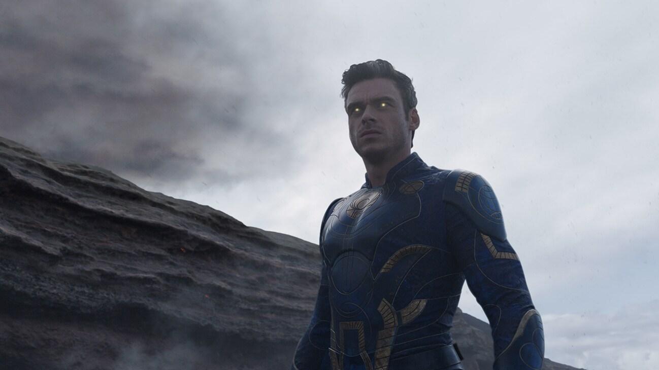 Ikaris (actor Richard Madden) from the Marvel Studios movie Eternals.