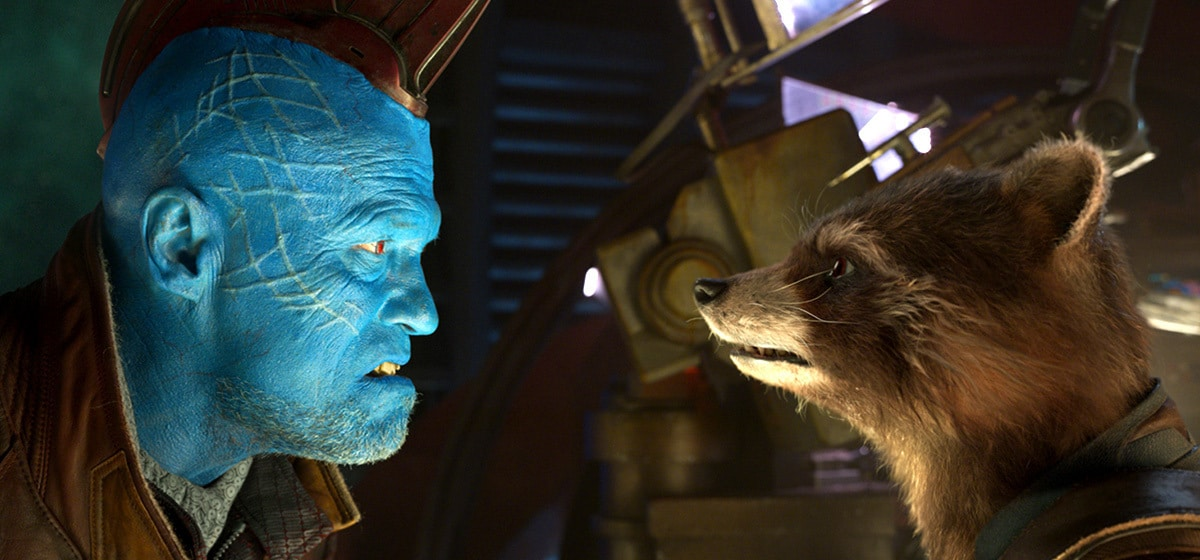 """Bradley Cooper (Rocket) and Michael Rooker (Yondu) in """"Guardians of the Galaxy Vol. 2"""""""