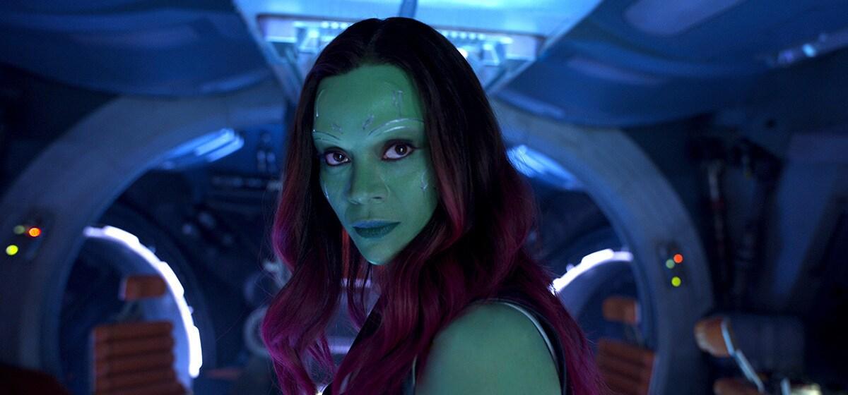 "Zoe Saldana (Gamora) in ""Guardians of the Galaxy Vol. 2"""