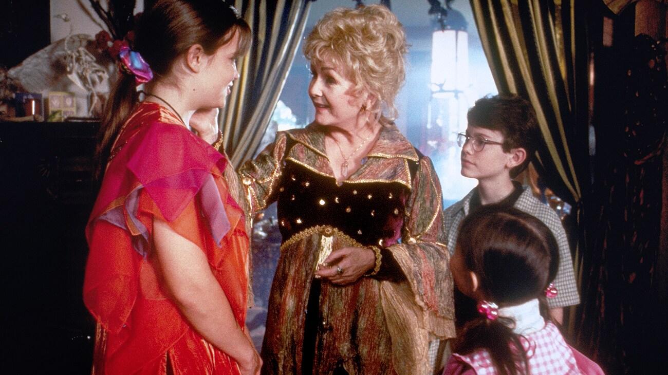 """Debbie ReynoldsKimberly Brown and Joey Zimerman in """"Halloweentown"""""""