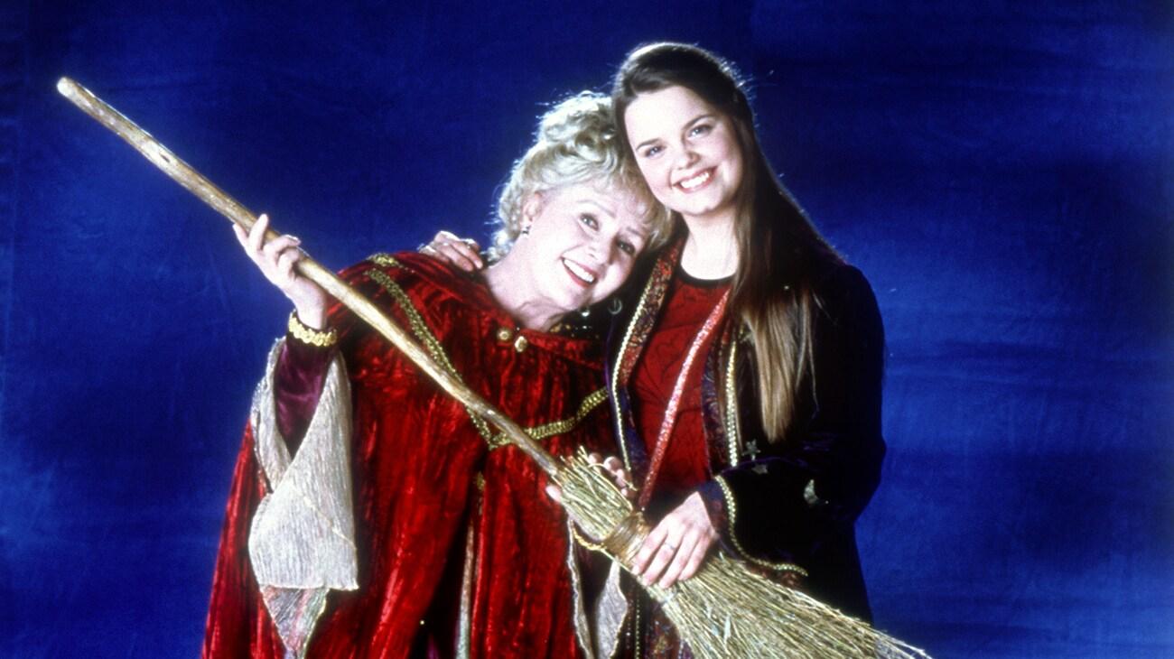 "Debbie Reynolds and Kimberly Brown in ""Halloweentown"""