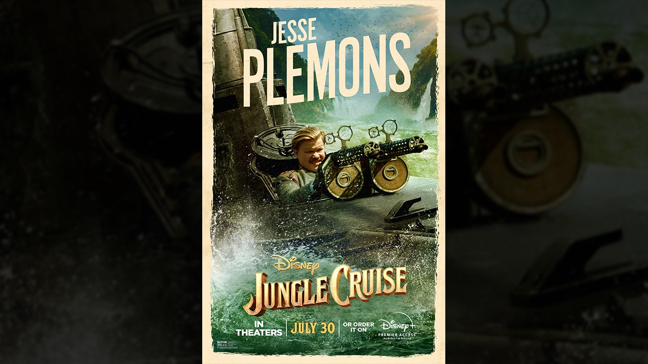 Jesse Plemons | Disney | Jungle Cruise | In theaters July 30 or order it on Disney+ Premier Access. Additional fee required. | poster