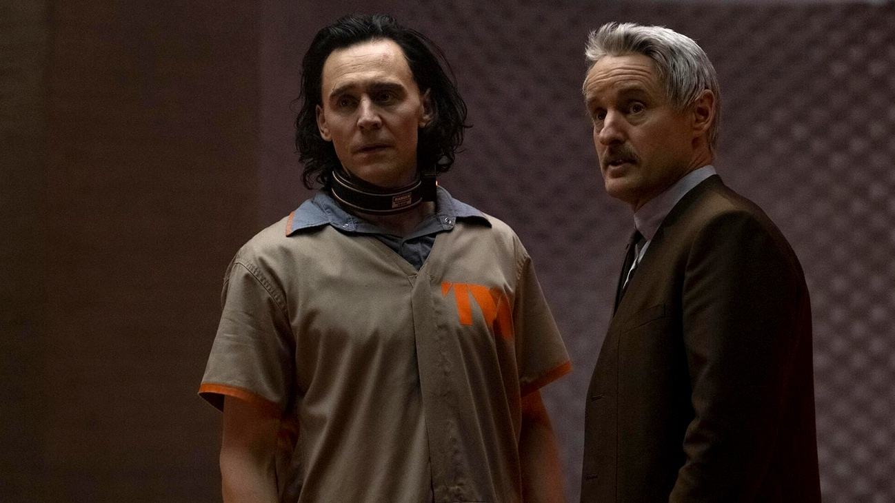 Loki (Tom Hiddleston) and Mobius (Owen Wilson) in Marvel Studios' LOKI exclusively on Disney+.