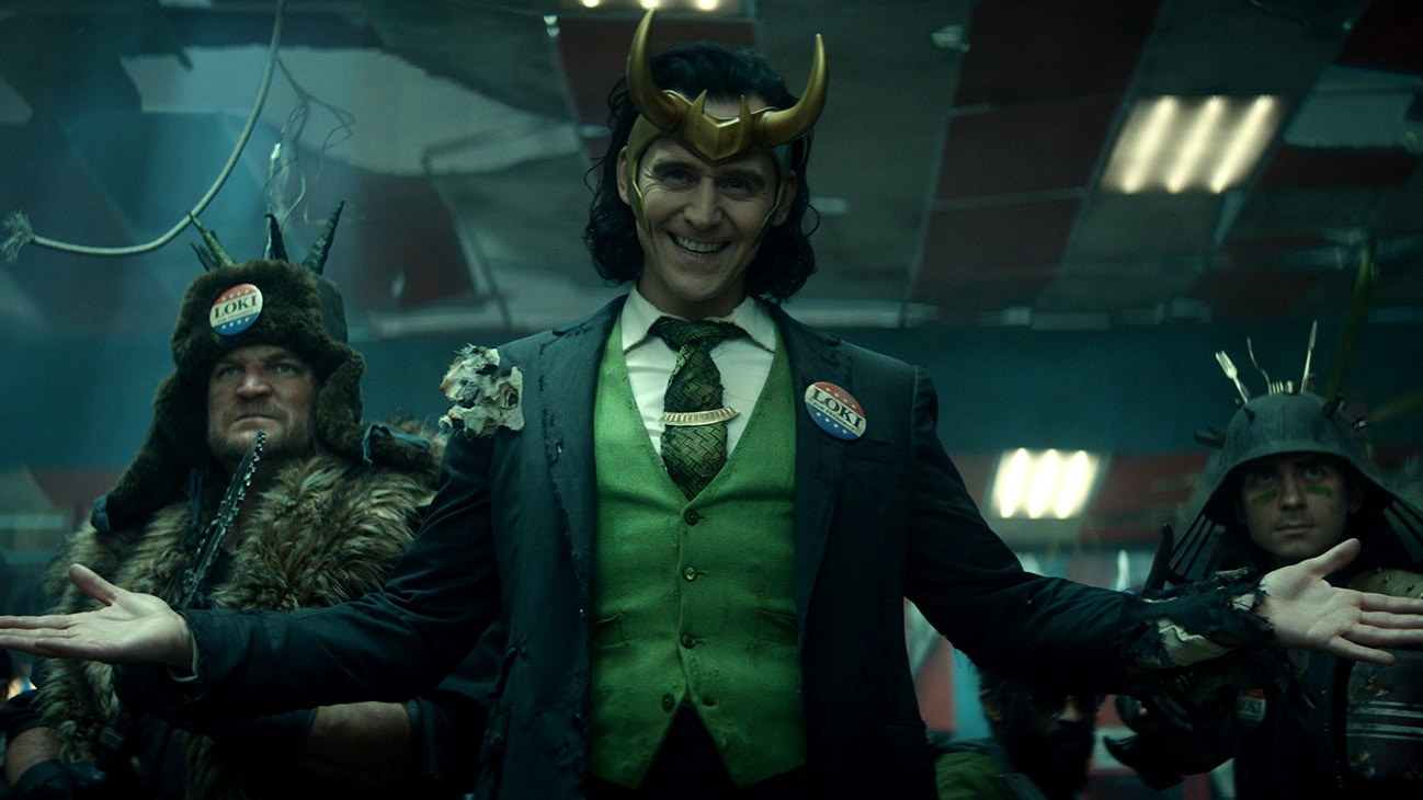 Loki (TomHiddleston) in Marvel Studios' LOKI exclusively on Disney+. Photo courtesy of Marvel Studios. ©Marvel Studios 2020. All Rights Reserved.