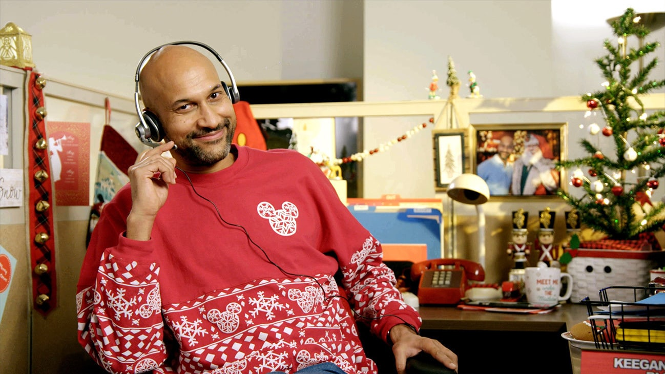 """Laugh-out-loud moments from Emmy® Award-winning actor Keegan-Michael Key as """"The Christmas Guy"""" in """"The Disney Parks Magical Christmas Celebration. The holiday special will air on ABC on Dec. 25, 10am-12pm ET."""