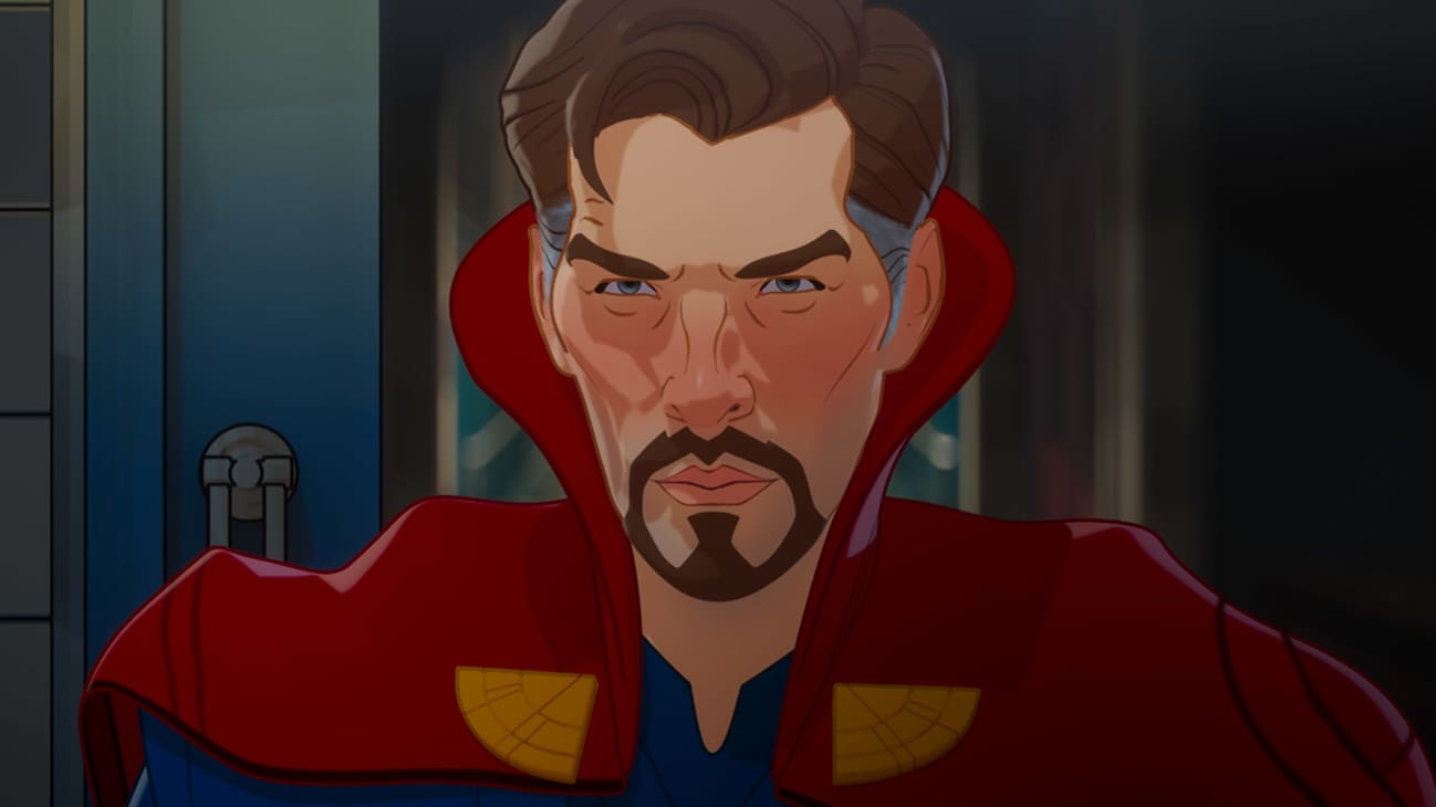 Doctor Strange in Marvel Studios' WHAT IF…? exclusively on Disney+. ©Marvel Studios 2021. All Rights Reserved.