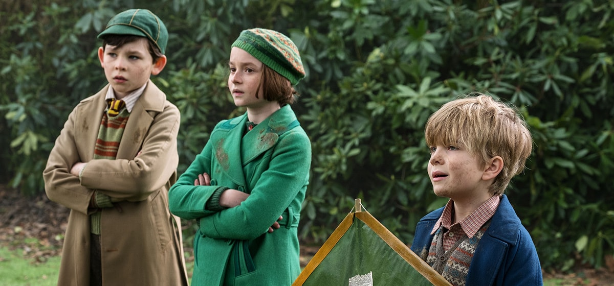 """The Banks children from the movie """"Mary Poppins Returns"""""""
