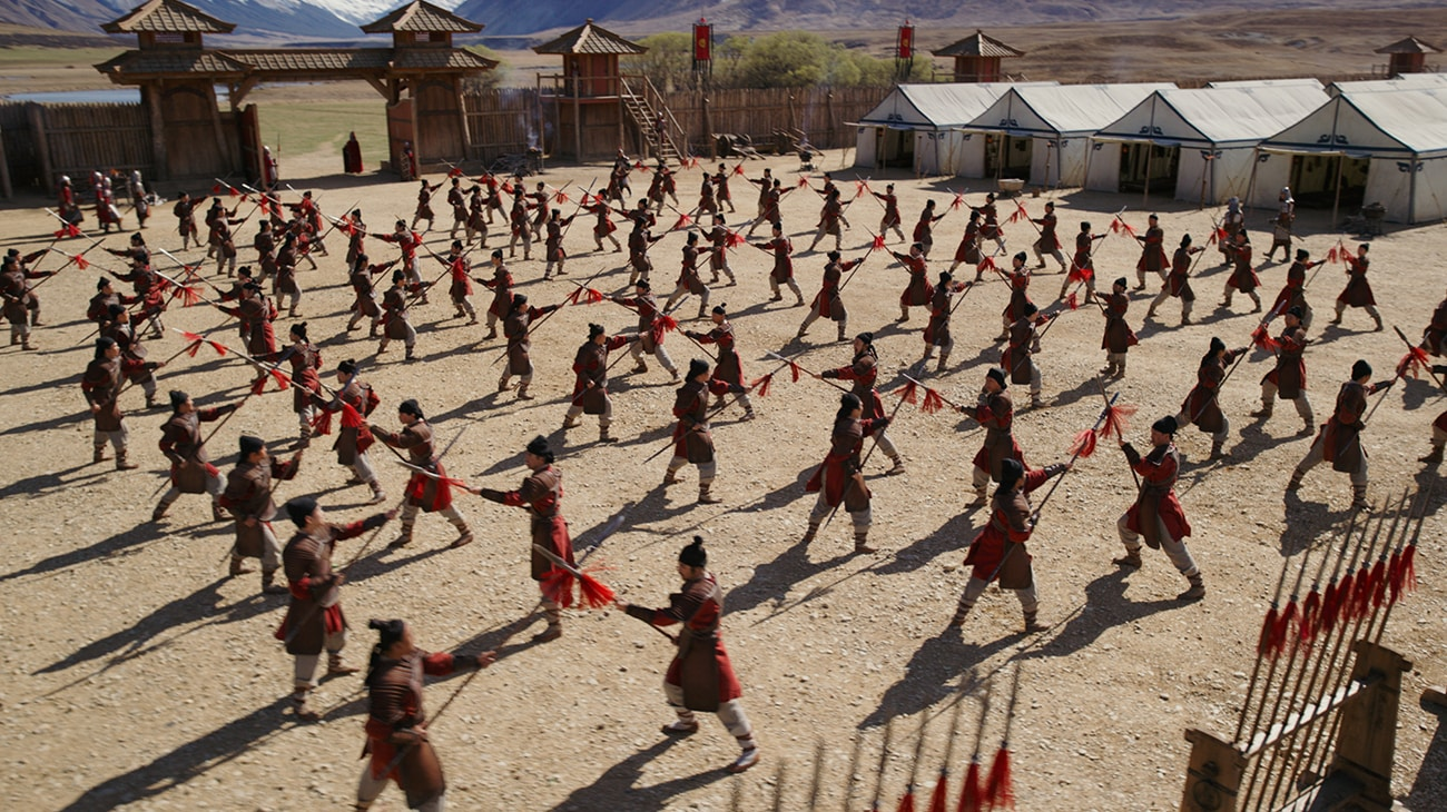 """Soldiers practicing in """"Mulan"""""""