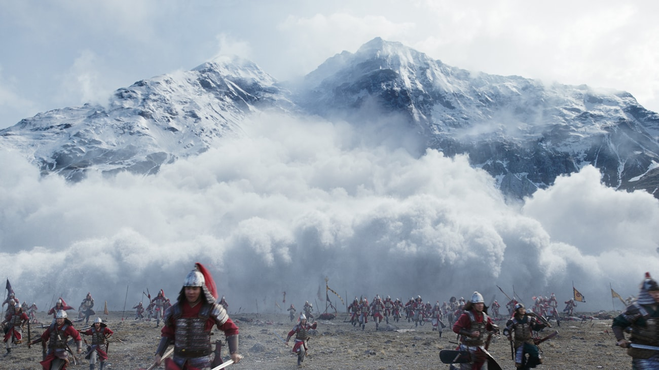 """Soldiers caught in an avalanche in """"Mulan"""""""