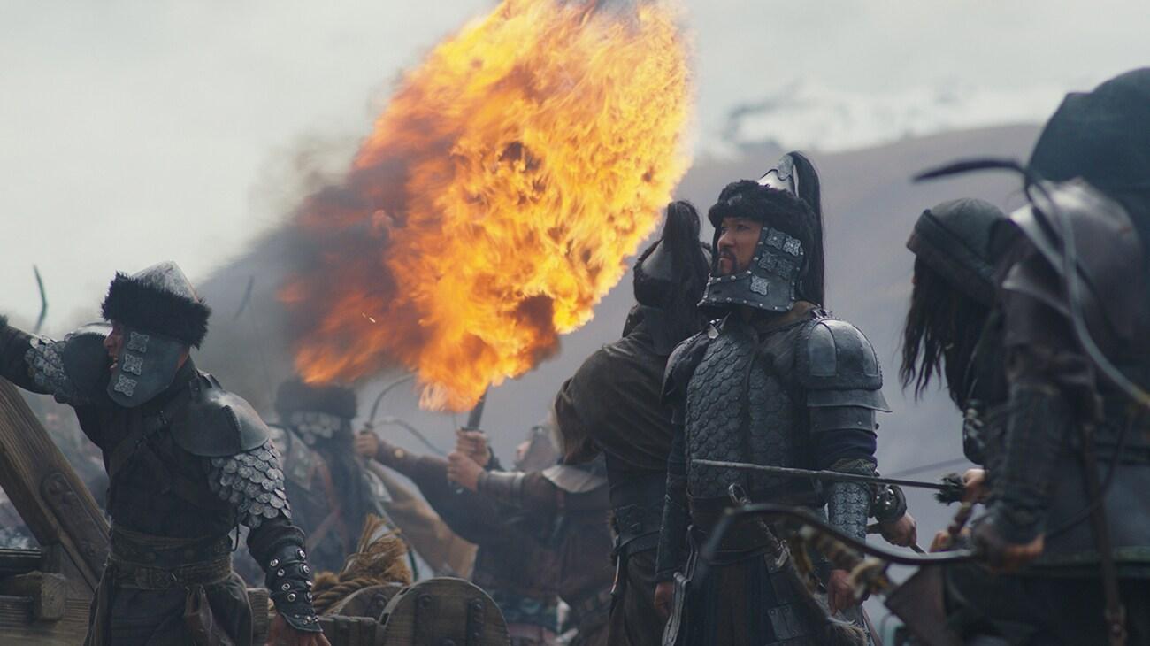 """Northern Invasion army battle scene in """"Mulan"""""""