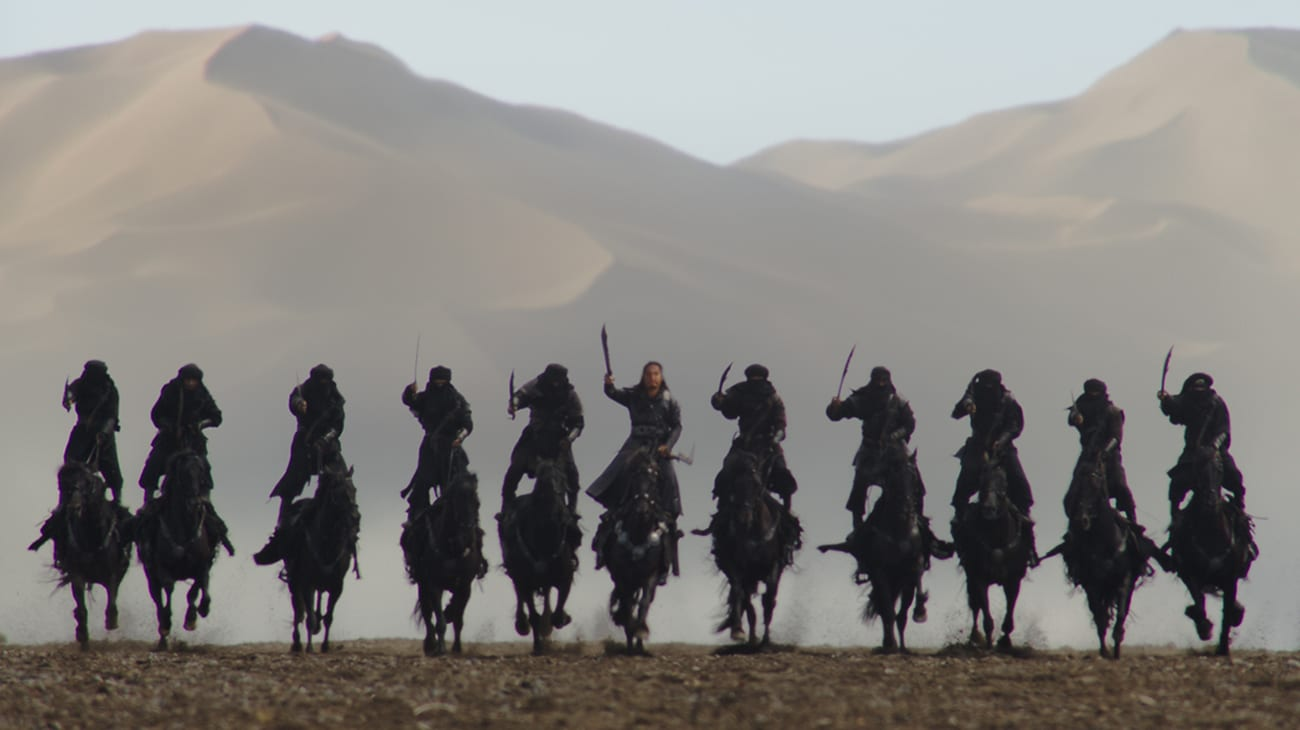 """Approaching Northern Inversion army on horseback in """"Mulan"""""""