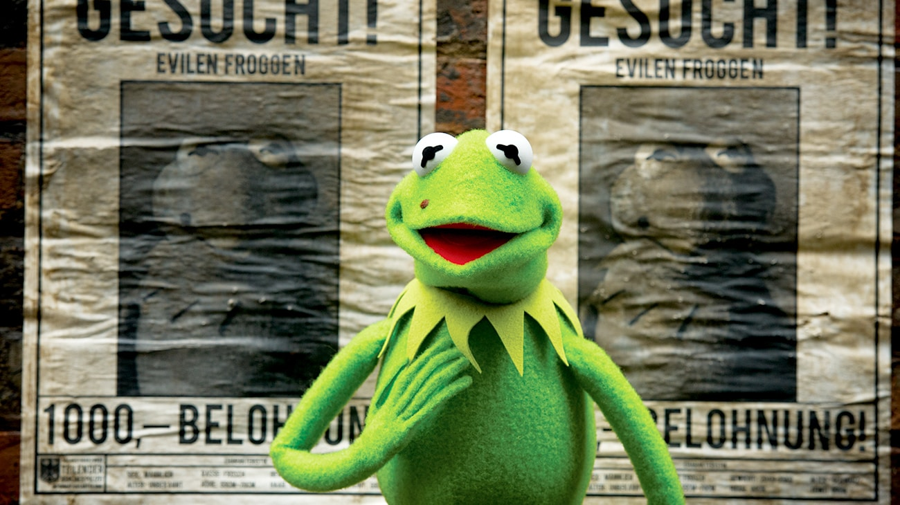 """Kermit the Frog in """"Muppets Most Wanted"""""""