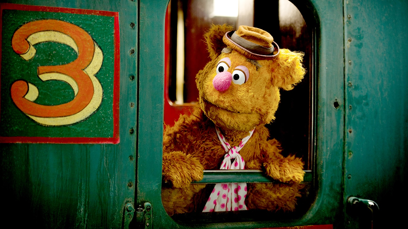 """Fozzie Bear in """"Muppets Most Wanted"""""""