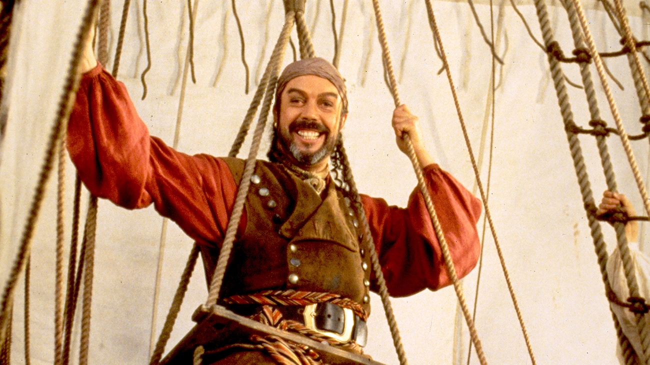 "Tim Curry in ""Muppet Treasure Island"""