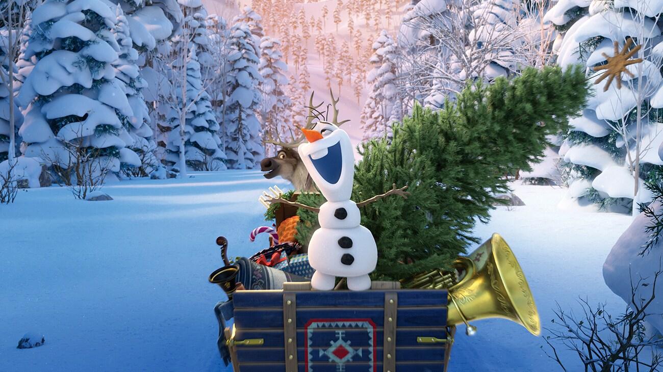 "Olaf singing in ""Olaf's Frozen Adventure"""