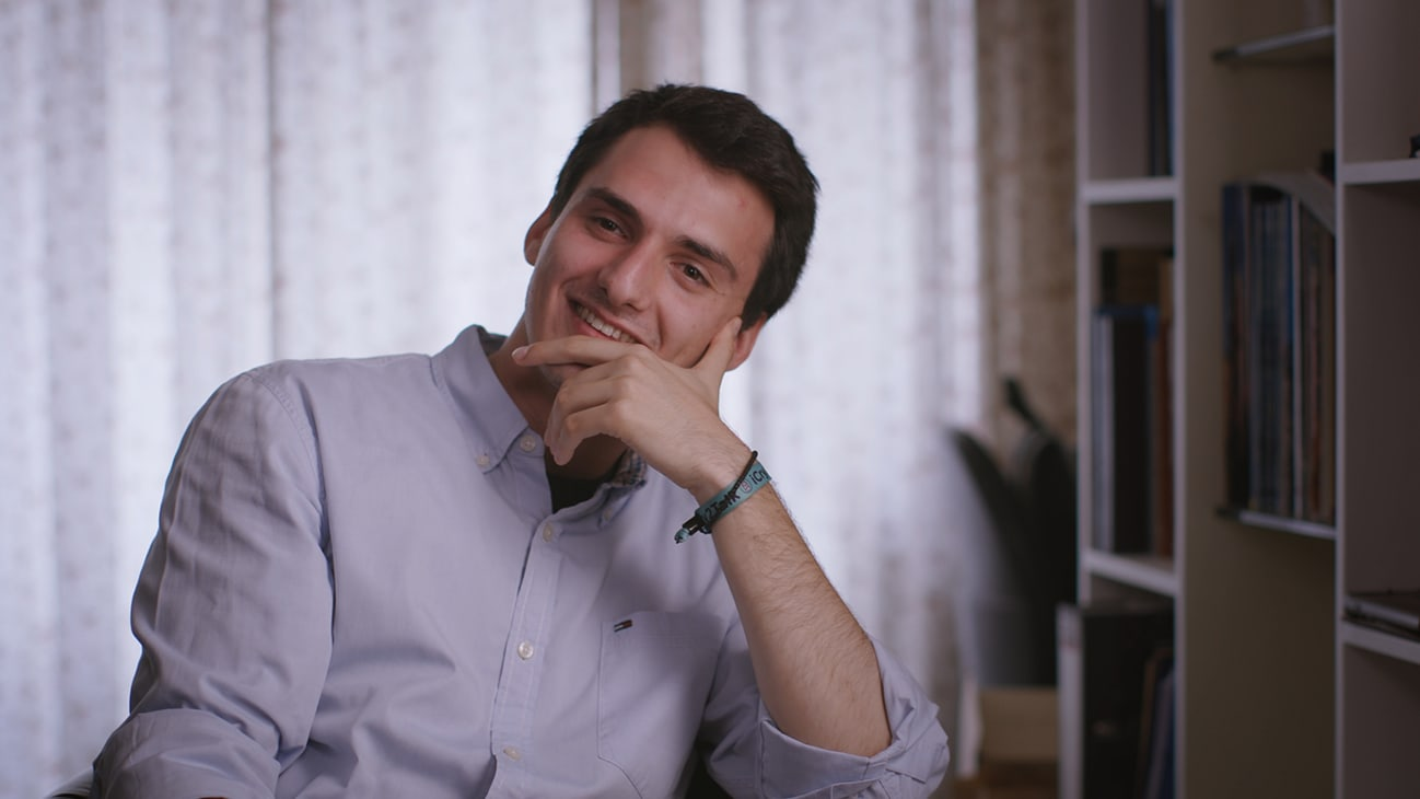 Thessaloniki, Greece - Jason Hadzikostas, co-founder of iCry2Talk. (Credit: Future of Work Film Inc)