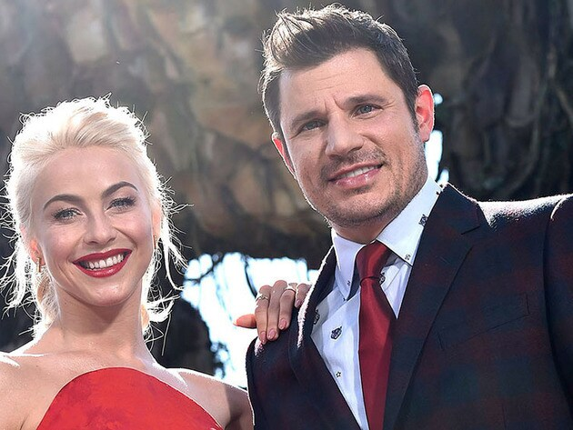 Julianne Hough and Nick Lachey host Disney Parks' Magical Christmas Celebration