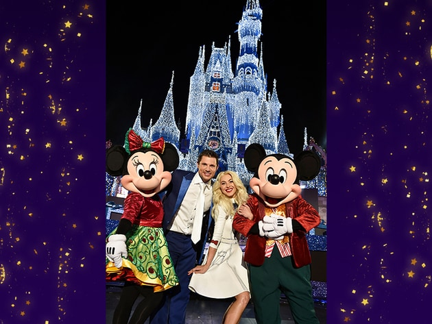 Nick Lachey and Julianne Hough host the The Wonderful World of Disney Magical Holiday Celebration