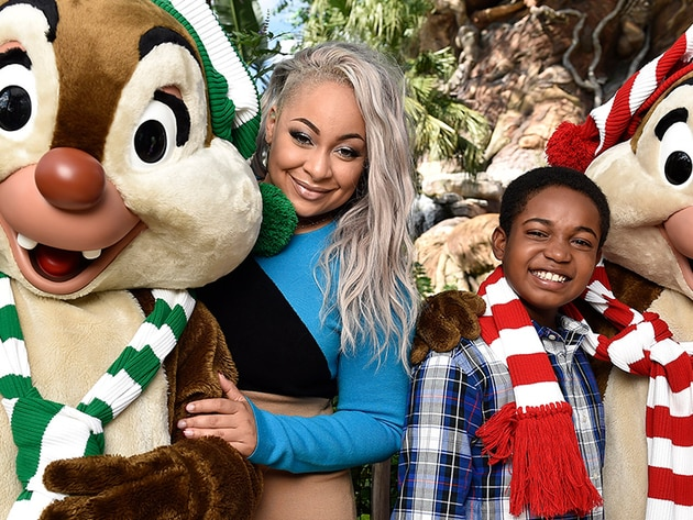 Raven-Symone and Issac Ryan Brown host the Disney Channel Holiday Celebration