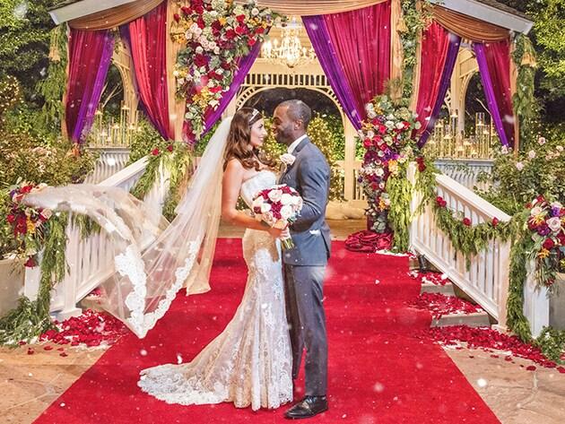 Festive wedding ceremony at Disneyland Resort