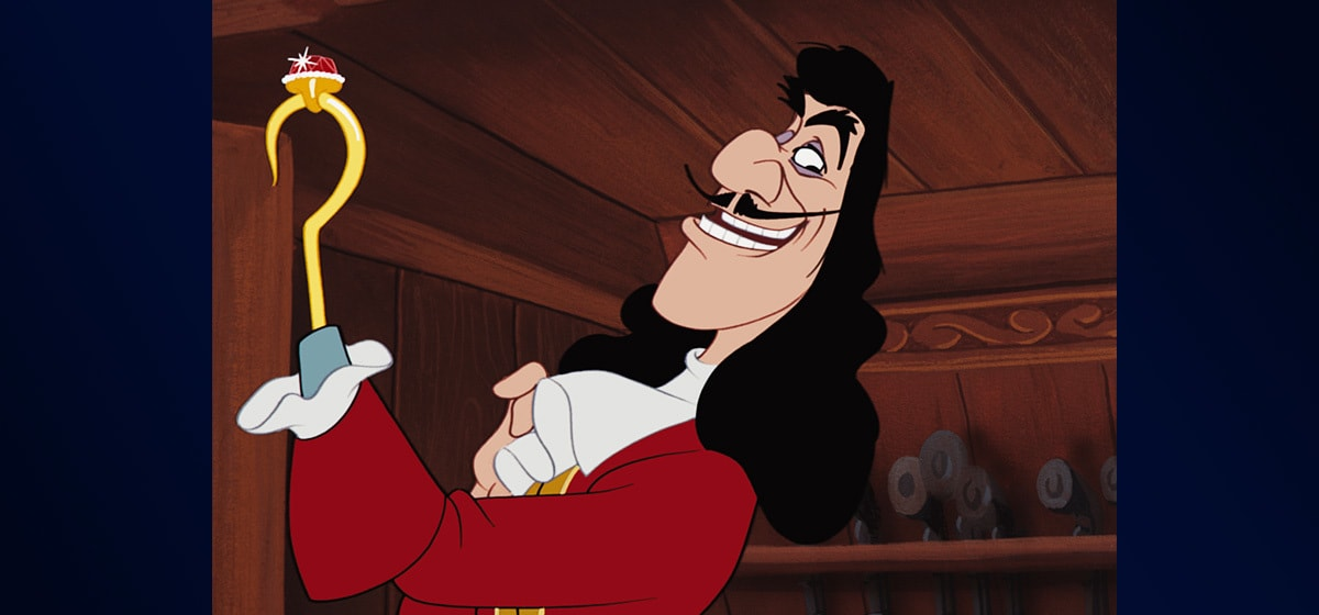 """Hans Conreid (Captain Hook) from the movie """"Peter Pan"""""""