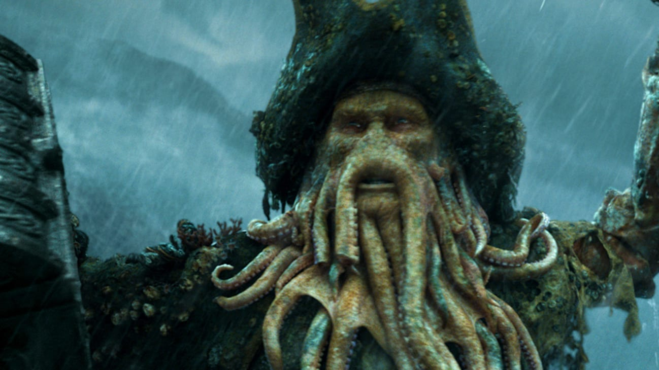 Davy Jones (Bill Nighy) in the Disney movie Pirates of the Caribbean: At World's End.