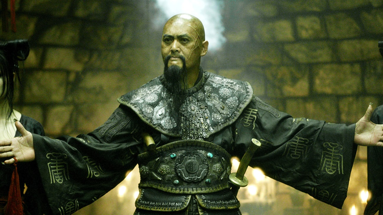 Captain Sao Feng (Chow Yun-Fat) in the Disney movie Pirates of the Caribbean: At World's End.