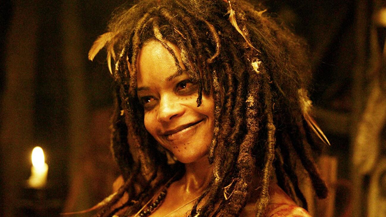 Tia Dalma (Naomie Harris) in the Disney movie Pirates of the Caribbean: Dead Man's Chest.