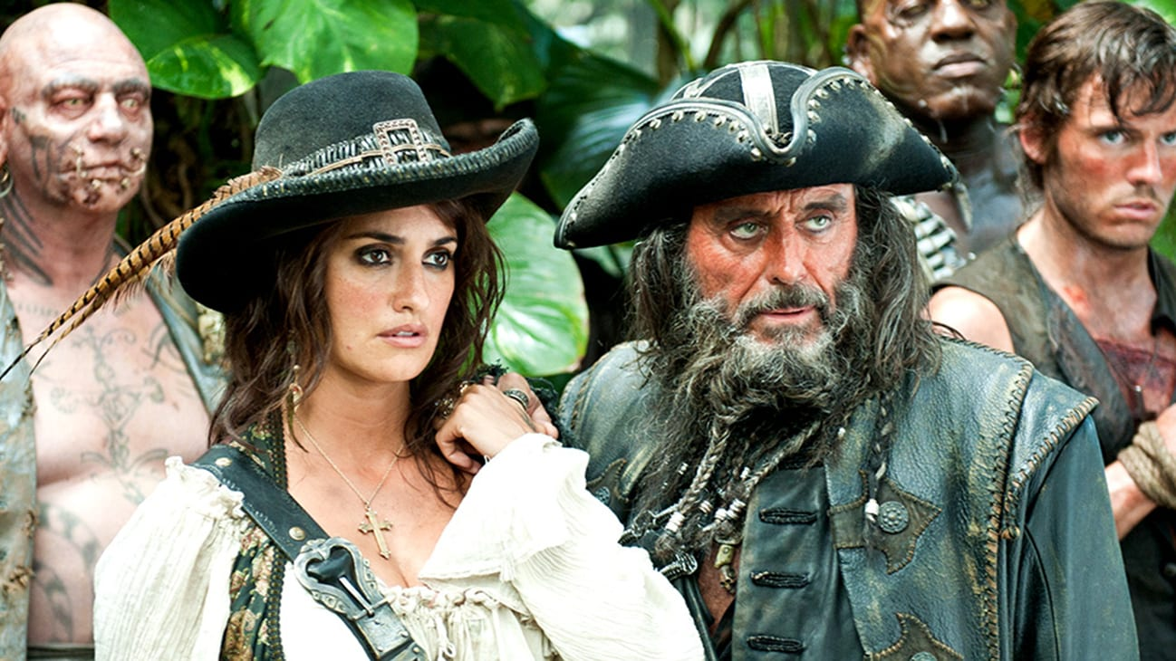 Angelica (Penélope Cruz) and Blackbeard (Ian McShane) in the Disney movie Pirates of the Caribbean: On Stranger Tides.