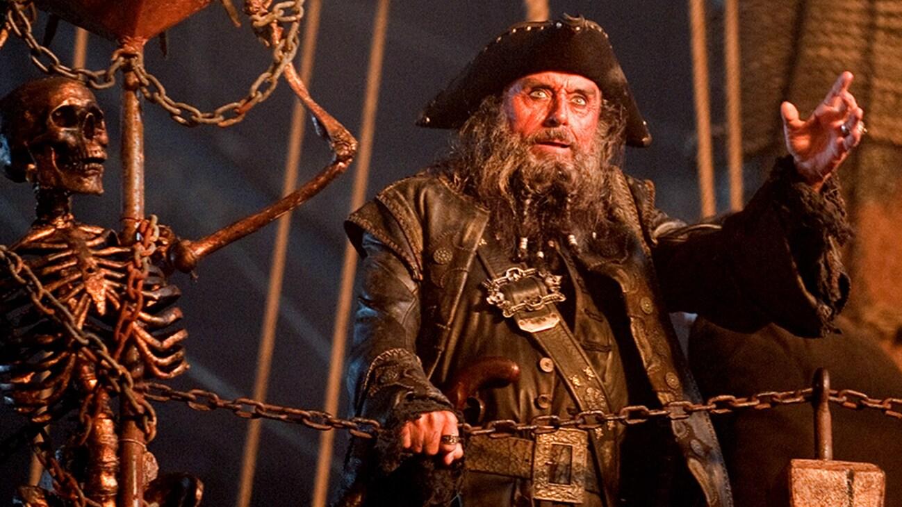 Blackbeard (Ian McShane) in the Disney movie Pirates of the Caribbean: On Stranger Tides.
